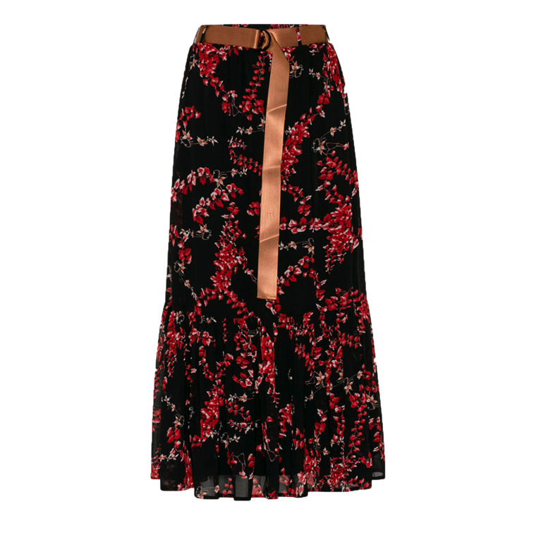 LOVE & DIVINE NEDERDEL - LOVE 224 BLACK/RED FLOWER