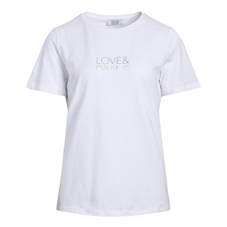 LOVE & DIVINE T-SHIRT - LOVE-TEE WHITE