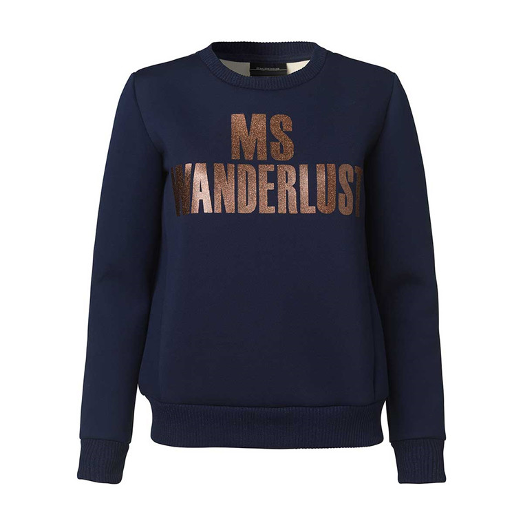 BY MALENE BIRGER SWEATSHIRT - SABRILLA 20T MIDNIGHT HEAVEN