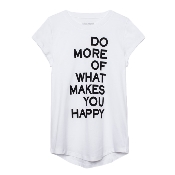 ZADIG & VOLTAIRE T-SHIRT - SKINNY DO MORE BLANC