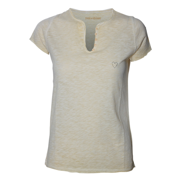 ZADIG & VOLTAIRE T-SHIRT - TUNESIEN MC COLD DYED MAIS