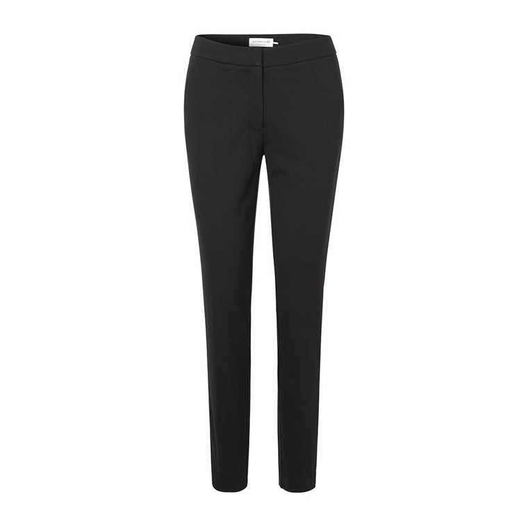 ROSEMUNDE BUKSER - 6831 TROUSERS 010 BLACK