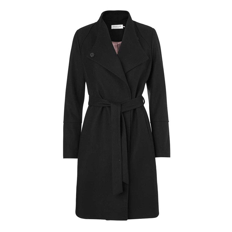 ROSEMUNDE JAKKE - 1218 COAT 010 BLACK