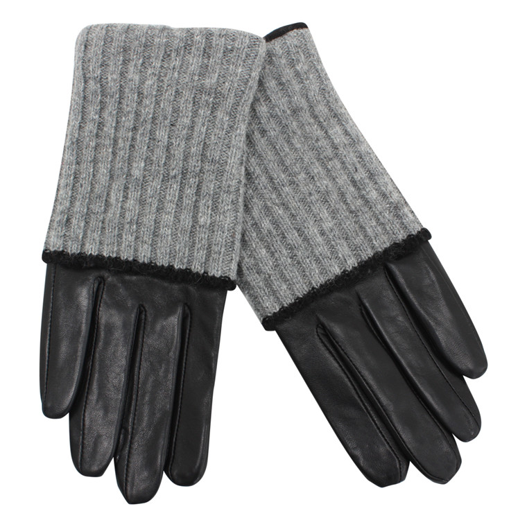 BECKSÖNDERGAARD HANDSKER - BARRE LIGHT GREY