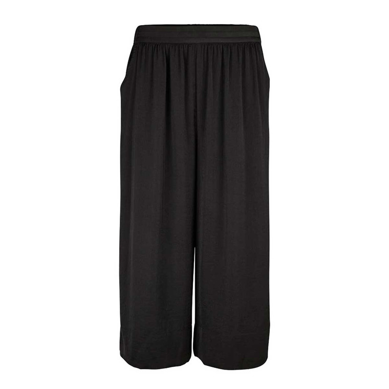 SECOND FEMALE BUKSER - MINGA CROPPED TROUSERS BLACK