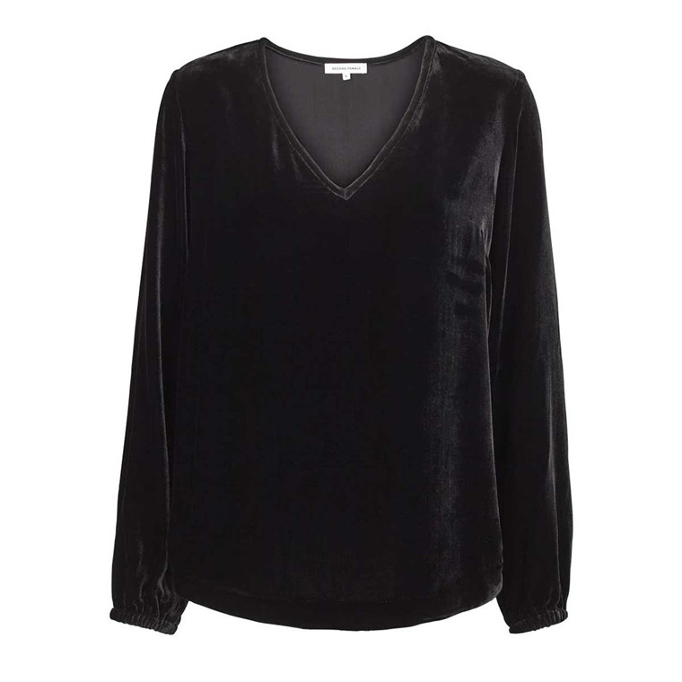 SECOND FEMALE BLUSE - MUJA BLOUSE BLACK