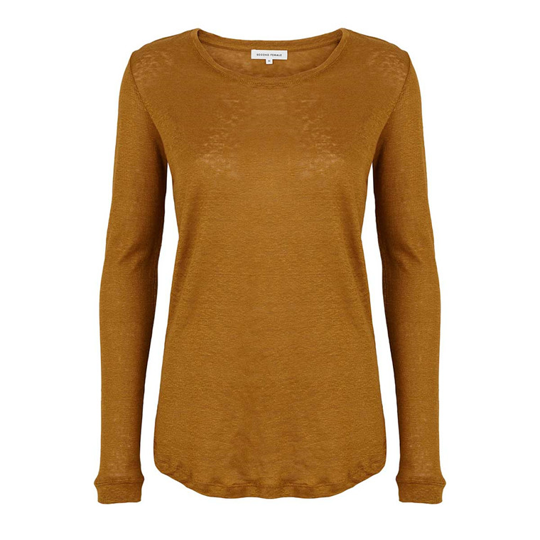 SECOND FEMALE BLUSE - PEONY LS TEE TAPENADE