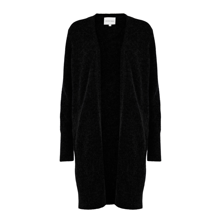 SECOND FEMALE CARDIGAN - BROOK KNIT POCKET BLACK