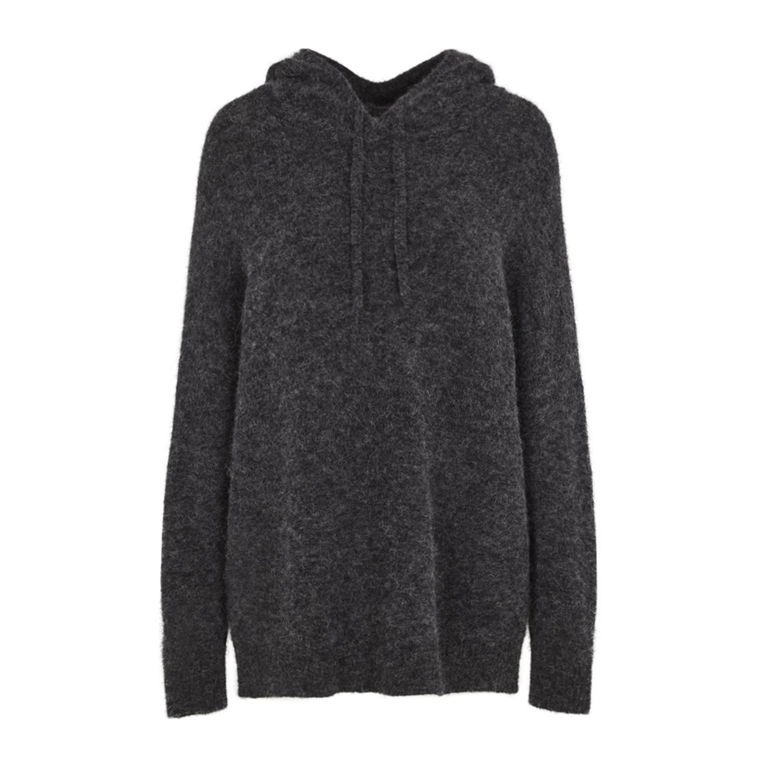 SECOND FEMALE STRIK - MAVILLE HOODIE DARK GREY MELANGE