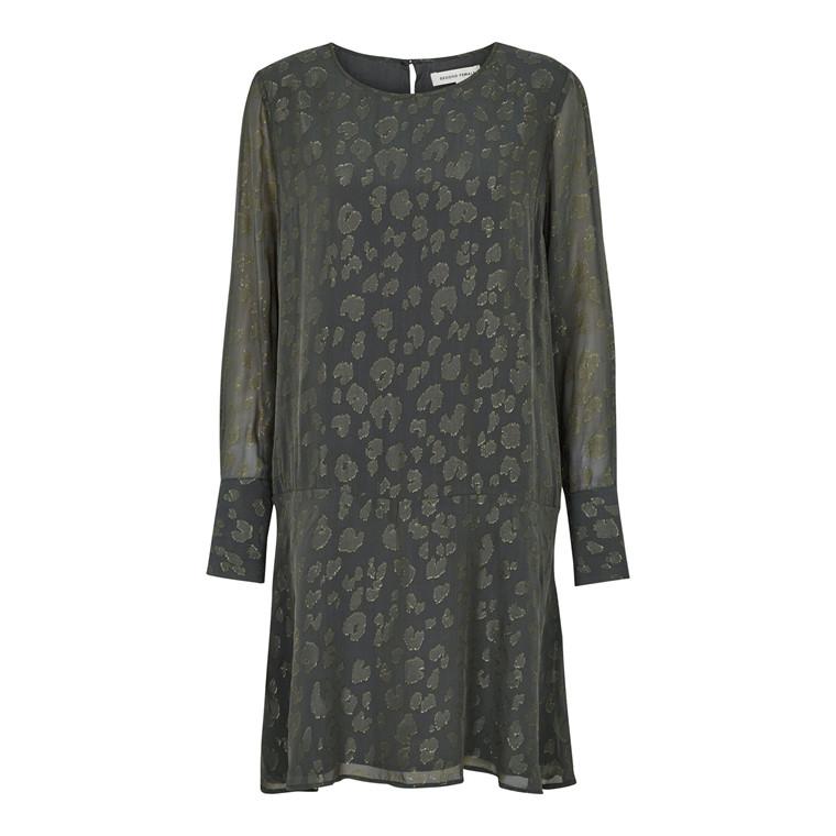 SECOND FEMALE KJOLE - CASCHA DRESS CYPRESS