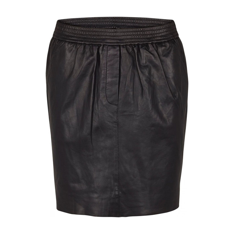 SECOND FEMALE NEDERDEL - ADINA LEATHER SKIRT BLACK