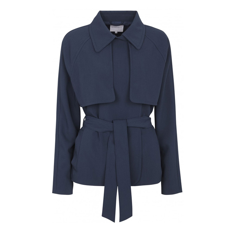 SECOND FEMALE JAKKE - SARAH SHORT COAT NAVY