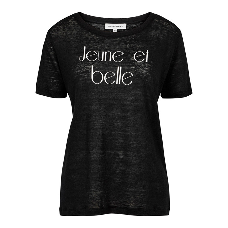 SECOND FEMALE T-SHIRT - JEUNE BLACK