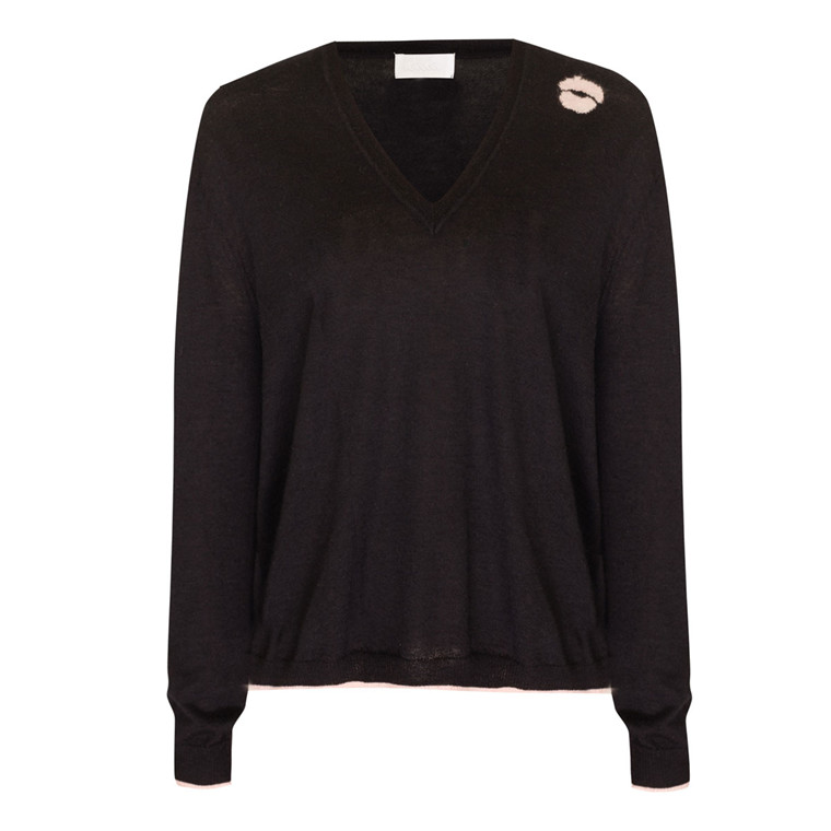 LALA BERLIN STRIK - JUMPER NICO BLACK