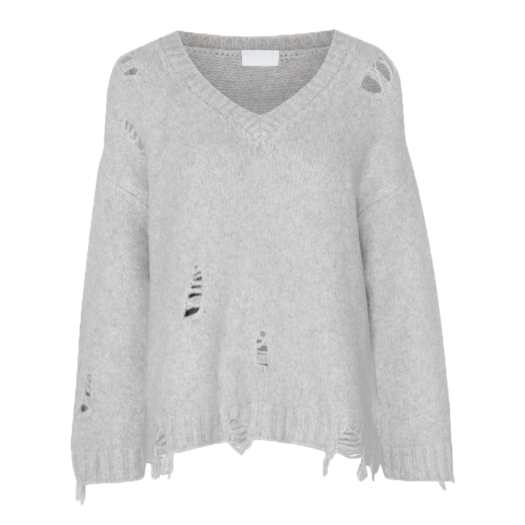 LALA BERLIN STRIK - WALLIS JUMPER SMOKE MELANGE