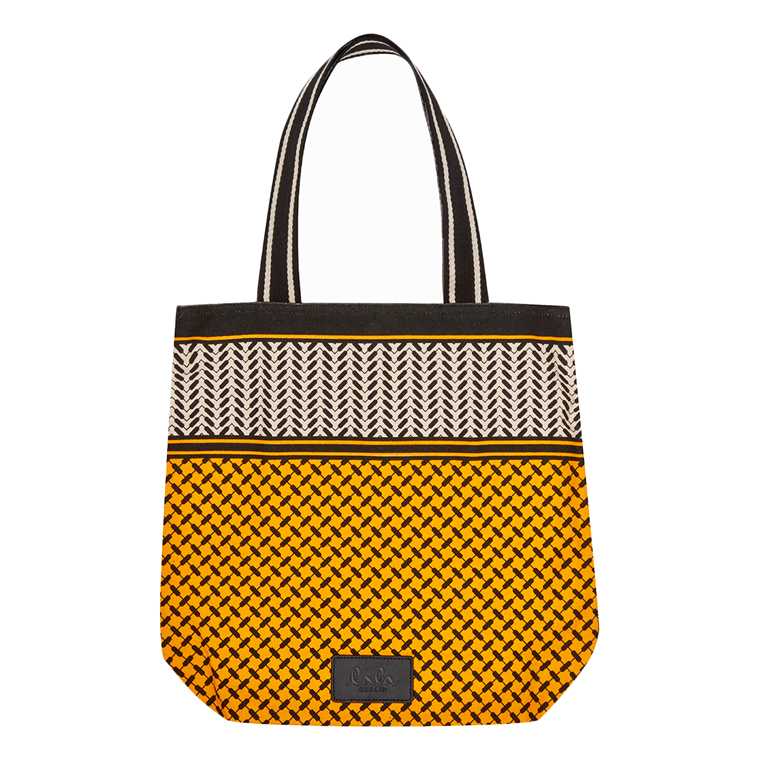 LALA BERLIN TASKE - TOTE CARMELA COLOR BLOCKED OFF-WHITE/MANGO