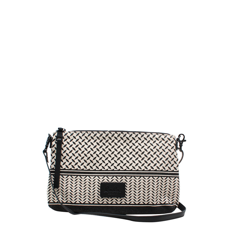 LALA BERLIN TASKE - POUCH FABIANA OFF-WHITE/BLACK