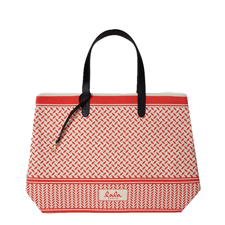LALA BERLIN TASKE - CANVAS SHOPPER RED