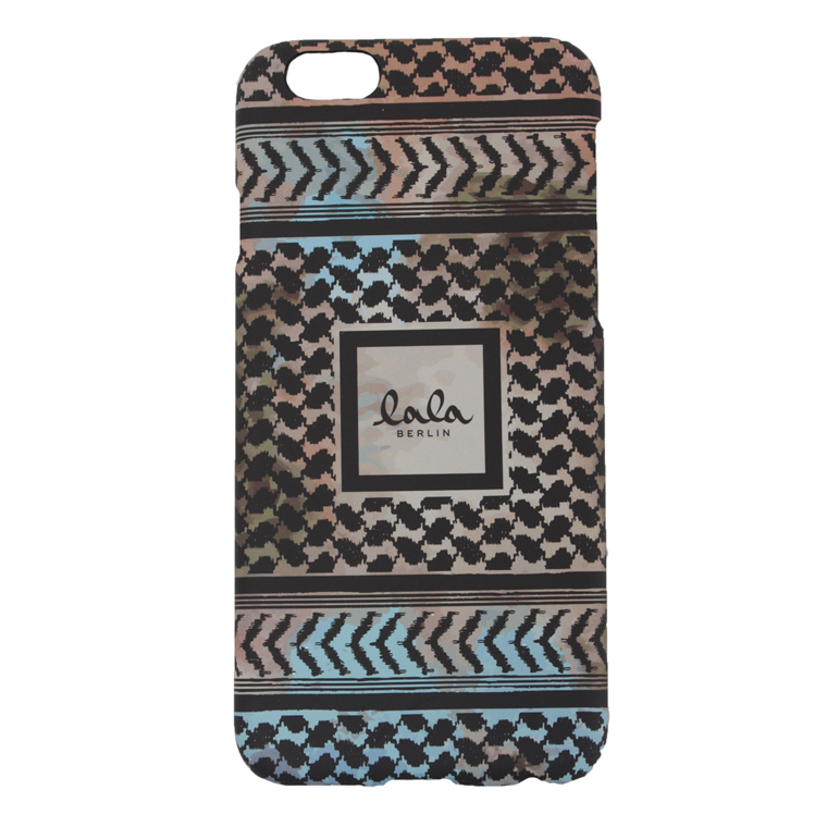 LALA BERLIN IPHONE COVER - IPHONE 6 KUFIYA MULTI/BLACK SCRIBBLED