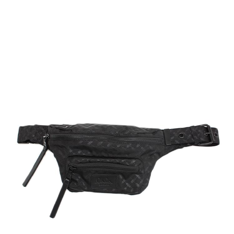 LALA BERLIN TASKE - BELT BAG KIMBERLY NYLON KYFIYA CLASSIC BLACK