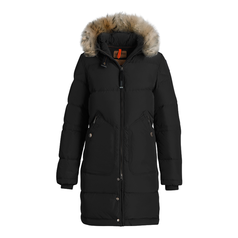 PARAJUMPERS JAKKE - LIGHT LONG BEAR BLACK