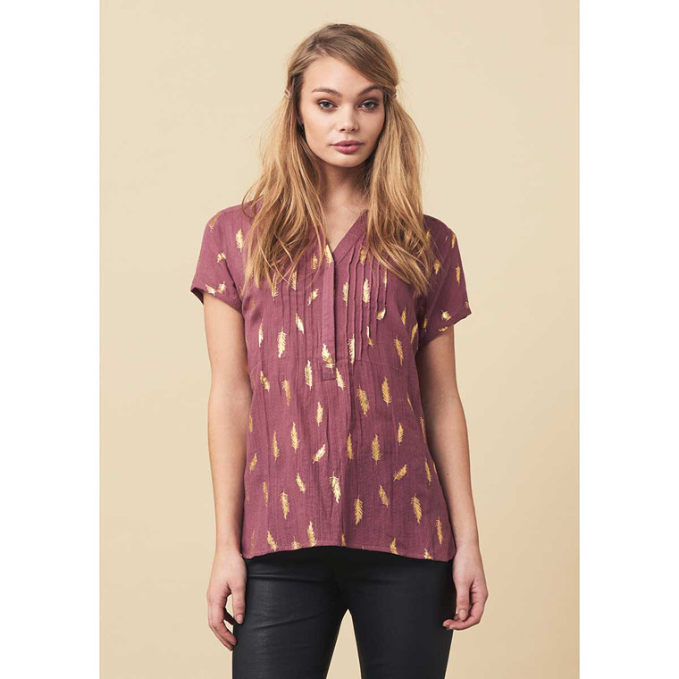 LOLLYS LAUNDRY BLUSE - HEATHER RUST