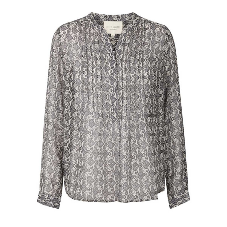 LOLLYS LAUNDRY BLUSE - HELENA ANTHRACITE GREY