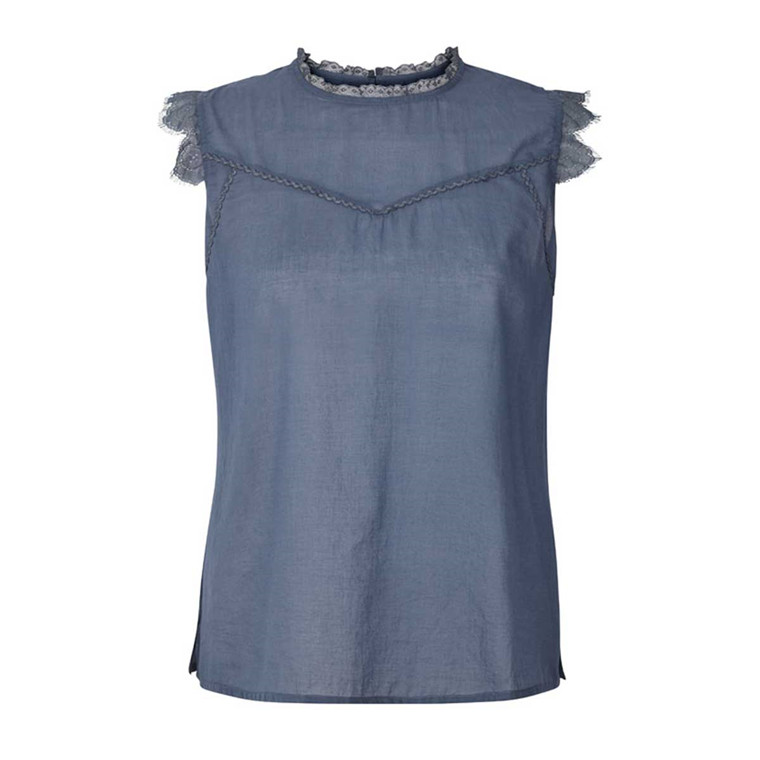 LOLLYS LAUNDRY TOP - DEA DUSTY BLUE