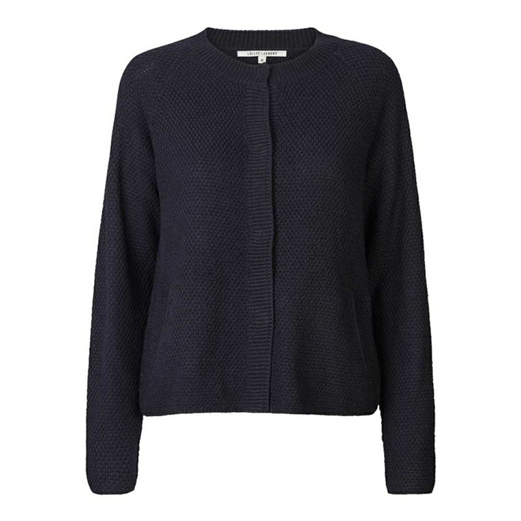 LOLLYS LAUNDRY CARDIGAN - LUU 27 DARK NAVY