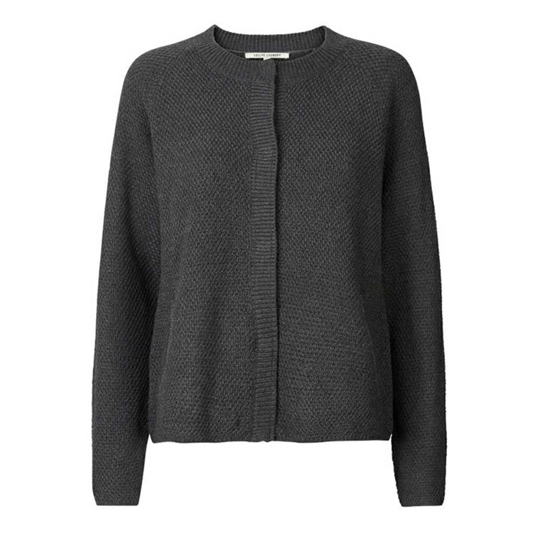 LOLLYS LAUNDRY CARDIGAN - LUU 14 DARK GREY