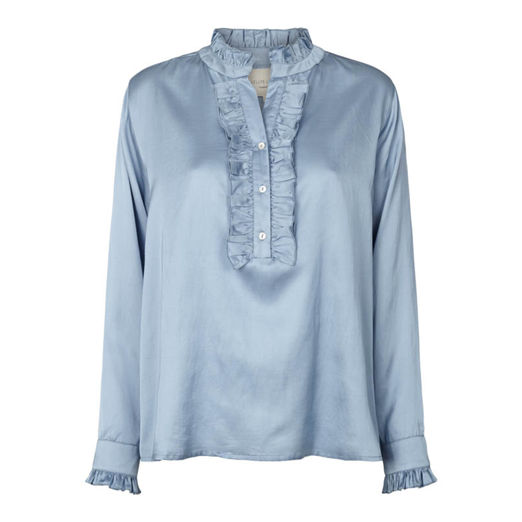 LOLLYS LAUNDRY SKJORTEBLUSE - FRANKA LIGHT BLUE