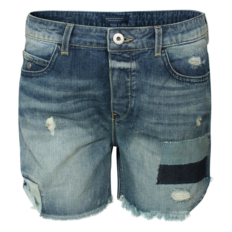 MAISON SCOTCH SHORTS - 87601 DENIM PETIT BLÅ