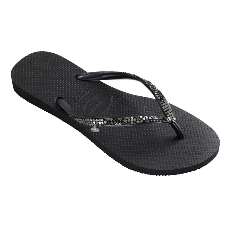 HAVAIANAS SANDAL - SLIM METAL MESH BLACK/DARK GREY
