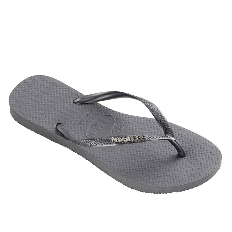 HAVAIANAS SANDAL - SLIM LOGO METALLIC ICE GREY