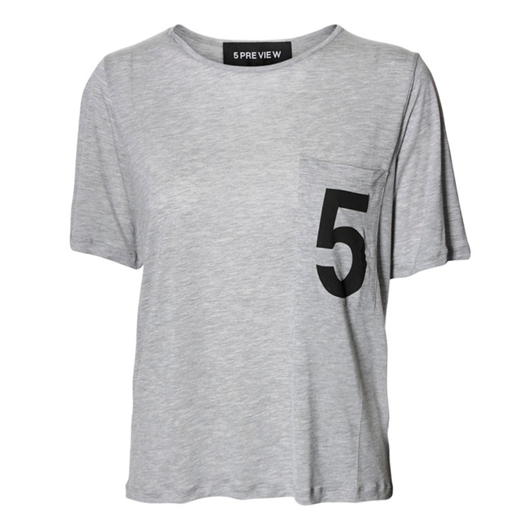 5 PREVIEW T-SHIRT - EMMIE GREY MELANGE