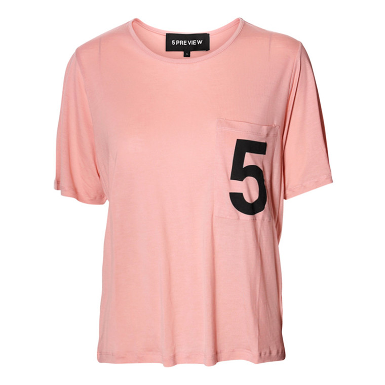 5 PREVIEW T-SHIRT - EMMIE POWDER PINK
