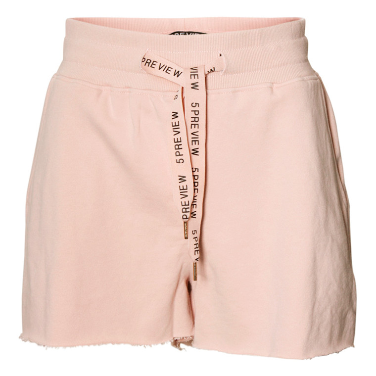 5 PREVIEW SHORTS - ACEL FLEECE POWDER PINK