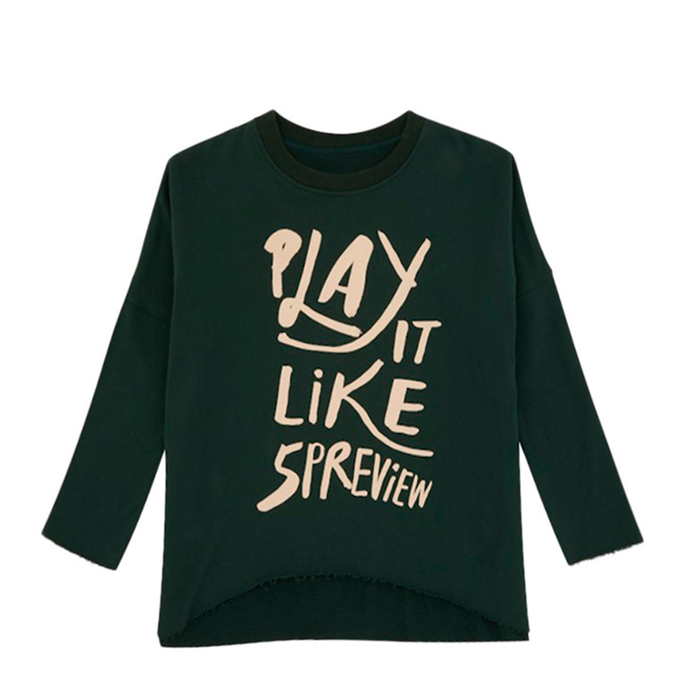 5 PREVIEW SWEATER - CARRIE FOREST GREEN