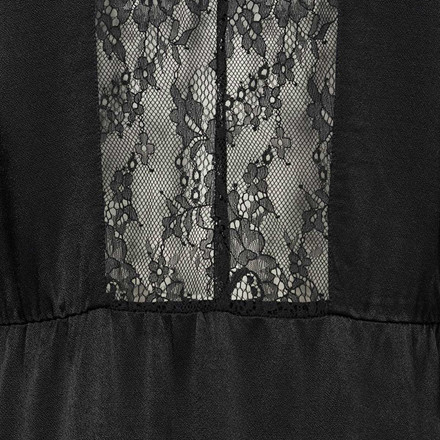 CUSTOMMADE KJOLE - IWONA W. SLIP DRESS ANTHRACITE BLACK