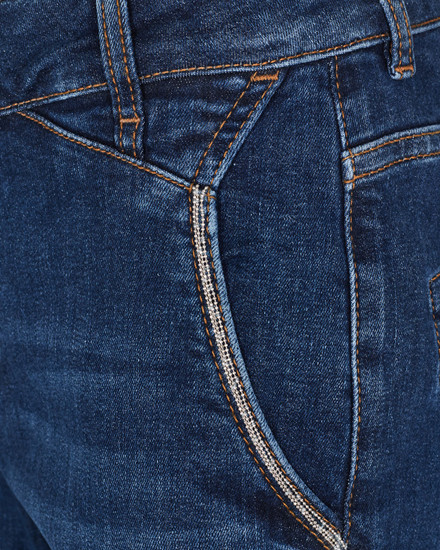 MOS MOSH JEANS - ETTA DENIM 3/4 - BLUE DENIM