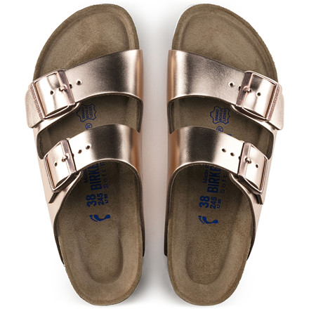 BIRKENSTOCK SANDAL - 952093 ARIZONA METALLIC COPPER
