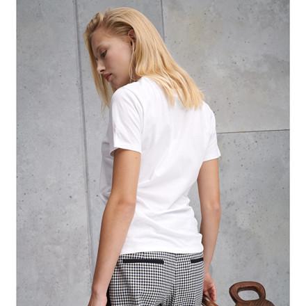 LALA BERLIN T-SHIRT - REDA WHITE