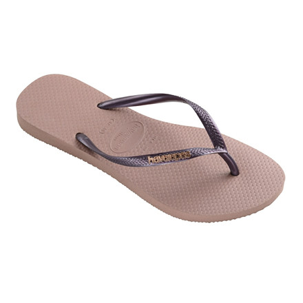HAVAINAS SANDAL - SLIM LOGO METALLIC CROCUS ROSE