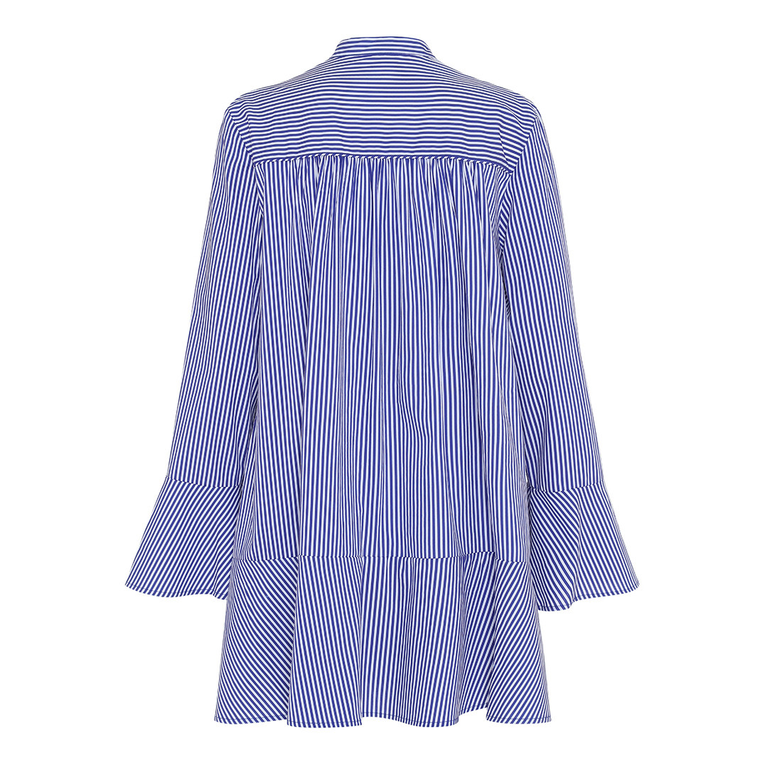 38c1d1fd2 Blå skjortekjole