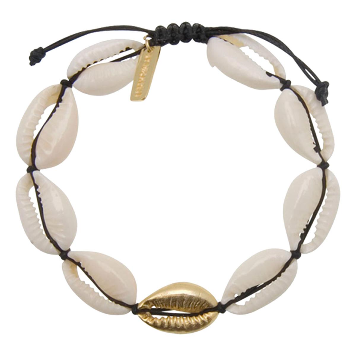 Perlearmbånd m. mix af gemstones, nude | no. 100T | ByMickleit