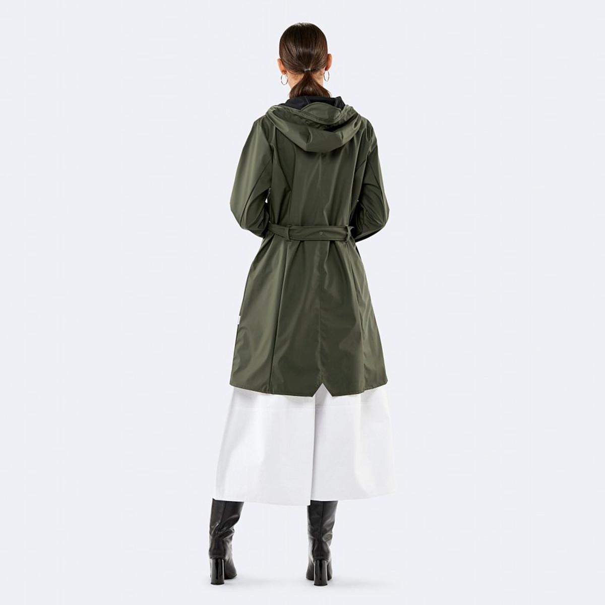 8920887490f 1206 Curve regnjakke grøn - Rains | Rikke Solberg