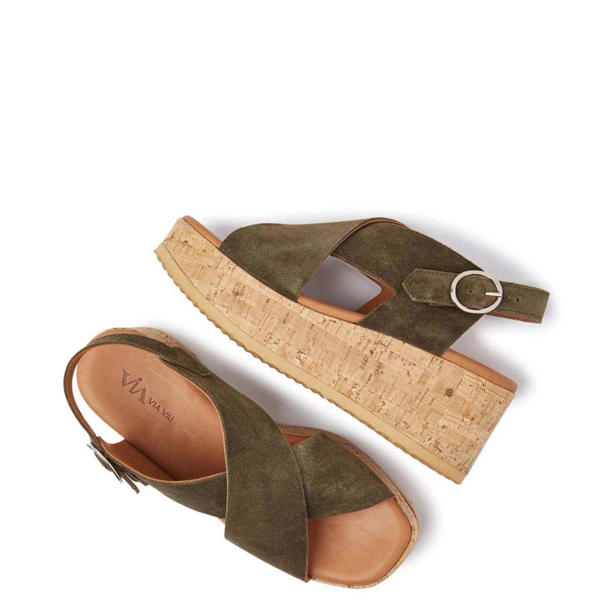 Sissel grøn sandal Via Vai | Rikke Solberg