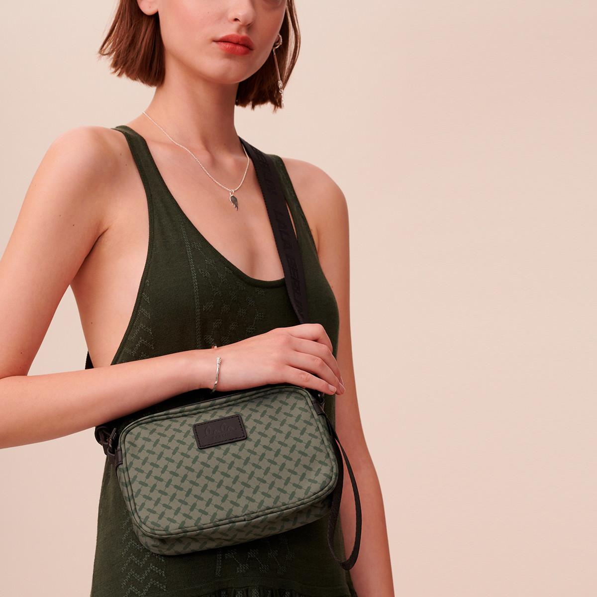 Crossbody New Agatha grøn taske Lala Berlin | Rikke Solberg