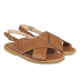 131502592dd1 5595 sandal brun med nitter - Angulus