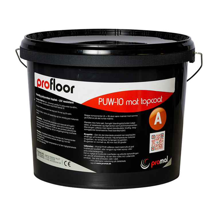 ProFloor PUW lak, satin eller mat 10 kg (2-k tyndlak)